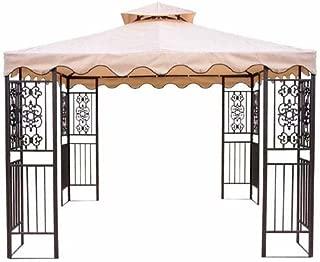 Replacement Canopy for Walmart's DC America Gazebo - RipLock 350 - Beige