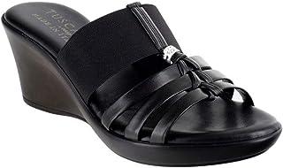 Easy Street Rosmunda Black Sandal,7 X-Wide