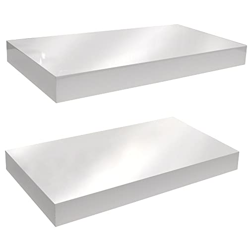 finest selection ce232 27b0c White Gloss Floating Shelves: Amazon.co.uk