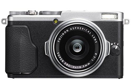 "Fujifilm X70 - Cámara digital compacta de 16.3 MP (sensor X-Trans CMOS II, pantalla inclinable de 3"", lente de longitud focal única f/2.8 de 18,5 mm), negro y plateado"