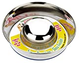 Paws Products Classic Dog Puppy Anti Gulp Bowl Stainless Steel - Slow Feeder Stops Bloating (Small 7.5