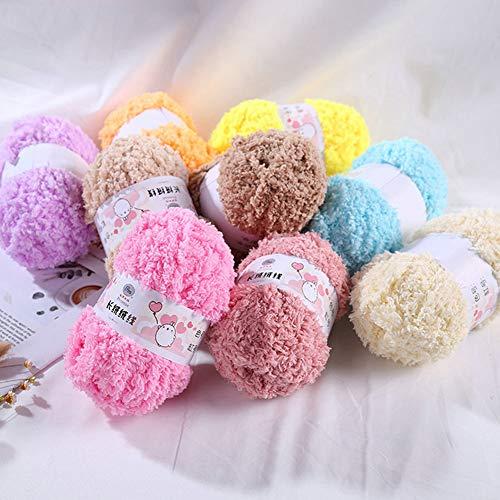Dyyicun12 10 stuks kinderen baby breigaren ambachtelijke doe-het-zelf mantel pullover hoed sjaal materiaal (10 rollen) lila