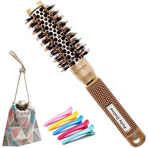 Brosse à cheveux ronde, Brosse pour le séchage des cheveux Brosse à poils ionique Brosse ronde antistatique pour le séchage,Curling & Redressement