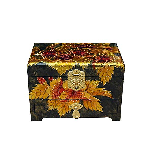 ALIANG Caja de Almacenamiento de Madera, China, Caja de tocador, joyero de Laca, Regalo, joyero de Flor de Cerezo