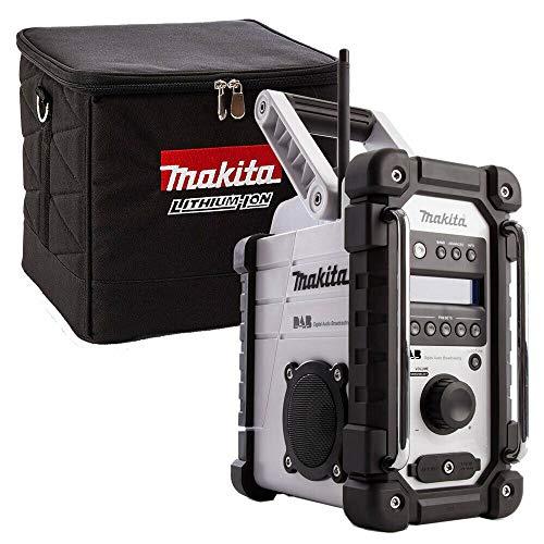 Makita DMR109W DAB 10.8v-18v White LI-ion Job Site Radio with 831373-8 Cube Bag
