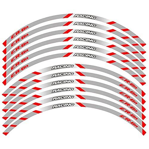 para K-awasaki ER-6N ER6N Etiqueta Engomada Reflectante Adhesiva De La Decoración del Borde del Neumático De La Rueda De Carreras De La Motocicleta (Color : 6)