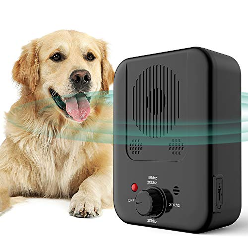 ULTPEAK Ultrasonic Bark Control for Outdoors and Indoors with 3 Adjustable Modes, Waterproof Dog Barking Control, Safe for Small Medium and Large Dogs