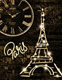 Paris Notebook Vintage Eiffel Tower Journal: 100 Page Ruled Blank Pages for Writing & Doodling: Paris notebook for writing, journaling keeping notes