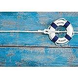 Papel pintado fotográfico de fieltro Premium Plus para pared, imagen de salvavidas con nudos marineros, n.º 3283, tamaño: 416 x 254 cm