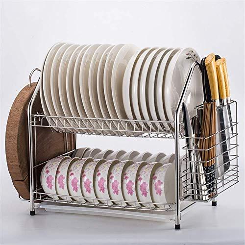 FEE-ZC Praktischer Küchen-Abtropfständer aus Edelstahl 304, Schneidebretthalter und Küchen-Abtropfgestell für Küchenarbeitsplatte, 20,01 * 10,2 * 15,7 Zoll