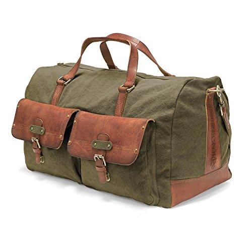 DRAKENSBERG Reisetasche und Weekender, groß, XL, Vintage-Abenteuer-Look, Kimberley-Long-Weekender, 55 L,...