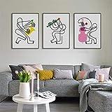 adgkitb canvas Moderne abstrakte Bands minimalistischen