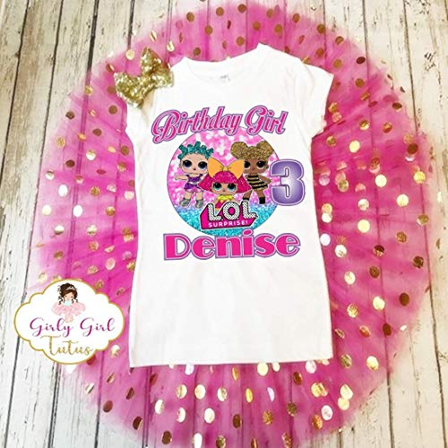 Lol Doll Surprise Birthday Outfit Girls- Lol Doll Surprise Birthday Shirt Tutu Set-