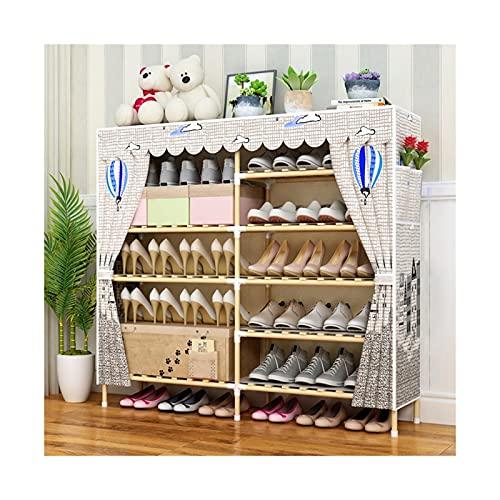 HYAN Portascarpe Capannone per Scarpe Portable Standing Double Row Shoe Shood Box Armadio Organizzatore con Copertura in Tessuto Non Tessuto per Armadio Scarpiera (Color : I)