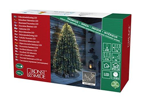 Konstsmide 6373-190 Lamelles Etoilées à LED 26 Brins de 27 Diodes, Plastique, 5 W, Blanc