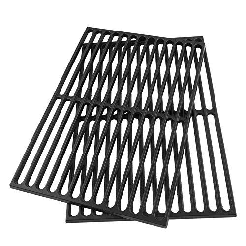 WELL GRILL Lot de 2 grilles de cuisson 7526 pour Weber (boutons latéraux) Spirit 300, 700, E-310, E-320, S-310, S-320, Genesis 1000-3500, grille de barbecue, 44 x 30 cm chacune