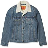 Levi's Men's Type III Sherpa Jacket, Mustard Blue Denim, XL