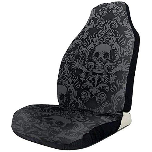 Alice Eva 2pcs Sitzbezüge Black Skull ist von Autositz Reisetasche für Auto Autositzbezüge umgeben
