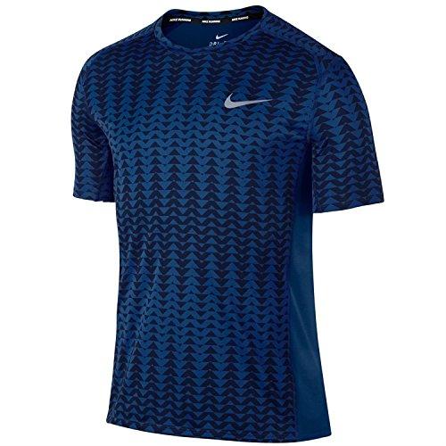 Nike Miler SS pr m NK Dry T-Shirt à Manches Courtes, Homme XL Bleu (Binary Blue/Paramount Blue)