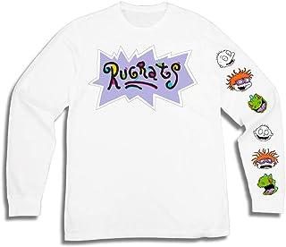 قميص رجالي بأكمام طويلة من نيكلوديون - ملابس #TBT للرجال 1990 - روجراتس، هاي ارنولد، رن وسيبي