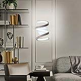 Lianye Moderna applique da parete a LED a spirale, applique in acrilico 18W lampada da comodino per montaggio a parete per soggiorno camera da letto, lampade da parete bianco...