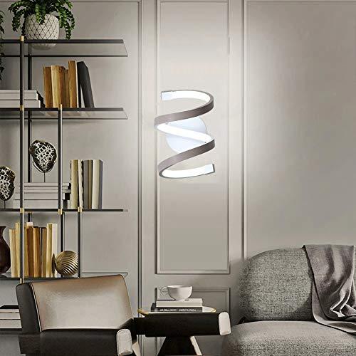 Lianye Moderna applique da parete a LED a spirale, applique in acrilico 18W lampada da comodino per montaggio a parete per soggiorno camera da letto, lampade da parete bianco freddo 6000K