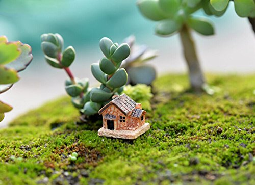 Oppal Mini casa de muñecas, casa de Piedra, Decoraciones de Resina para el hogar y el jardín, Bricolaje, decoración del hogar para el día de Pascua (al Azar)