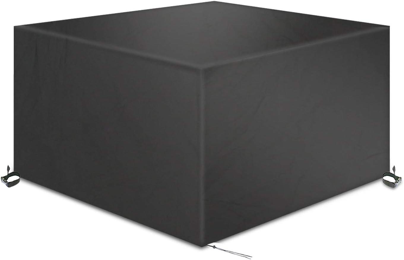 TAOCOCO Funda para Muebles de Jardín Impermeable, protección contra el Polvo y los Rayos UV, Cubierta de Mesa y Silla para Muebles de jardín (200x160x70 cm)