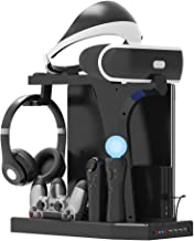PlayStation Display Charger Stand - ElecGear Vertical Stand, PSVR Headset Holder, Quad Charging Dock for DualShock & PS Mo...