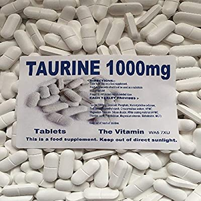 The Vitamin Taurine 1000mg 180 Tablets - Bagged