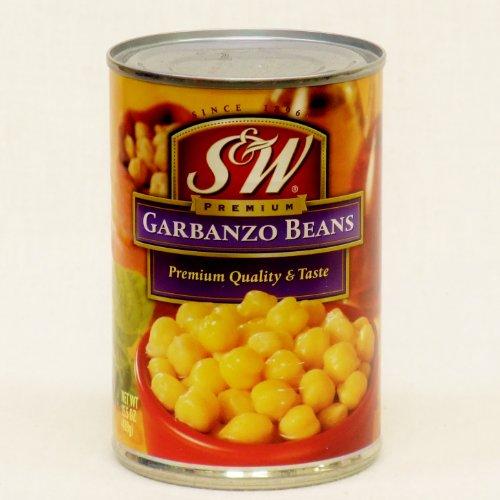 訳あり S&W ガルバンゾビーンズ ラベルB級品 garbanzo beans (Discount crushed cans.) 439g 缶詰 ※外装B級品 ラベル・缶等に傷や凹凸があります。