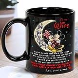 N\A Topolino Minnie a mia Moglie Tazza da caffè in Ceramica Nera Prodotta negli Stati Uniti