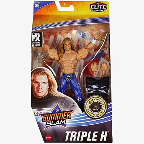 WWE Elite FX Collection - Serie 86 – Sommerslam – Triple H – Figura de acción coleccionable de figuras icónicas de la WWE Superstars!– aprox. 6 pulgadas