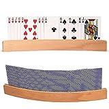 BSTCAR Porta Carte Da Gioco, Segnaposto Legno Porta Carte Da Gioco, Accessori Per Giochi Di Carte