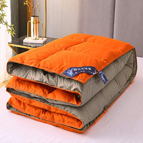 CHOU DAN Duvet Cover Twin,Duvet quilt winter quilt full quilt core double-220X240cm 3500g_Orange+grey