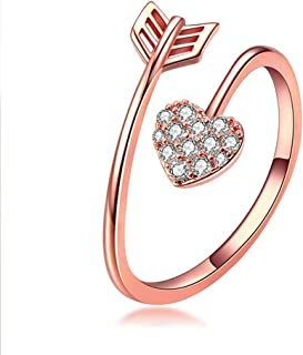 GOOKEY Heart Gold Ring Adjustable - The Best Gift for Your Wife Lover or Girlfriend