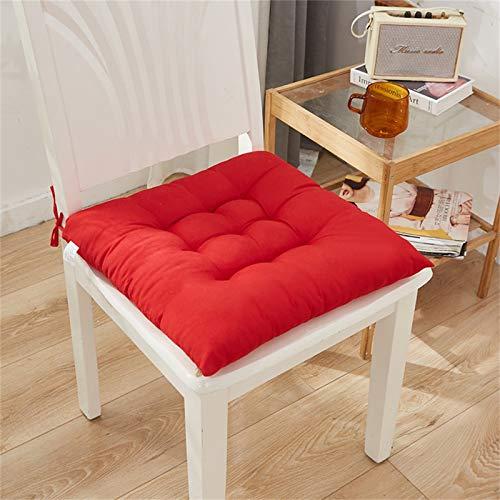 QIFLY Cojín de asiento, doble grueso, transpirable, antideslizante, para el hogar, oficina, silla de coche, silla de ruedas, estudiante, dormitorio, aula, 40 x 40 cm