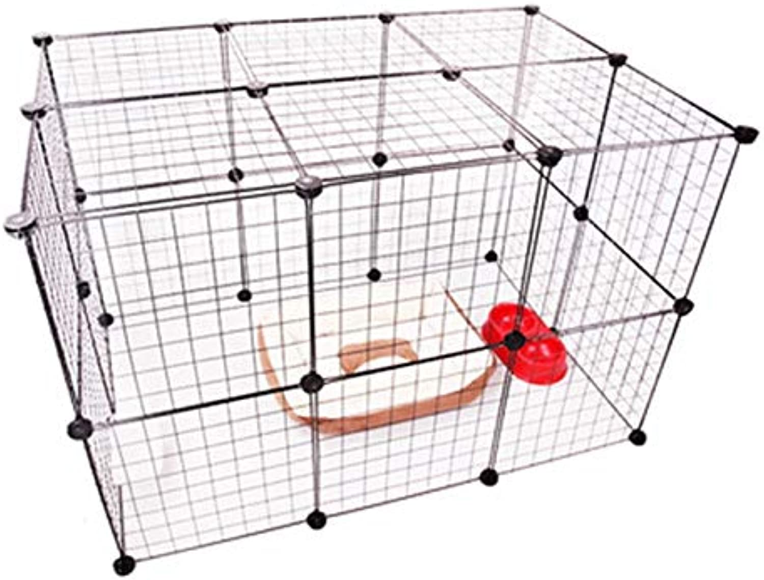 CARBE kennelPet Bed House Iron Transparent Isolation Dog Fence Barrier Multifunctional Indoors Outdoors Kennel House