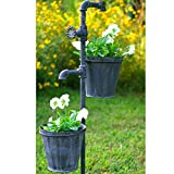 Faucet Garden Stake with Two Planters from Colonial Tin Works (1)
