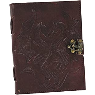 Customer reviews Swords Swords Double Dragon Leather Handmade Journal