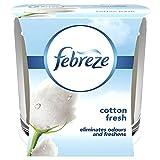 Febreze - Vela antiolores, aroma de algodón, 100 g