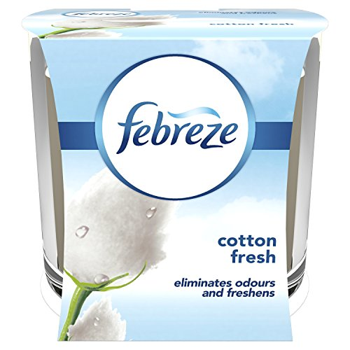 Febreze Odour Eliminating Cotton Scented Candle, 100 g