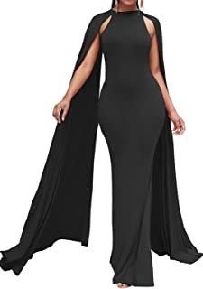 Bodycon4U Women's Elegant Long Mermaid Formal Gown Prom Evening Dresses with Cape