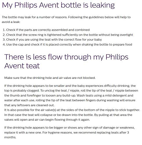 Philips Avent Natural Baby Bottle Nipple, Variflow Nipple 3M+, 2 pounds, Clear