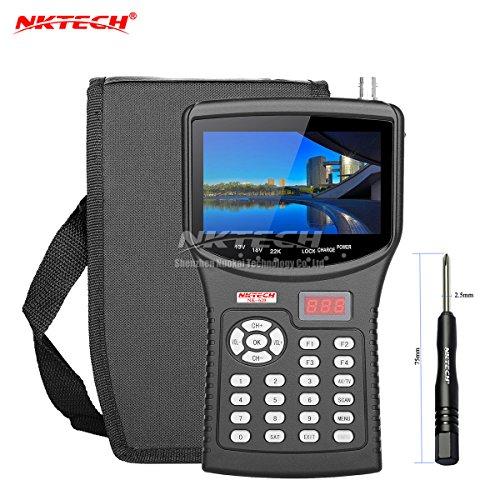 NKTECH HD NK-620 Localizador de satélites medidor de señal de TV comprobador de cámara CCTV monitor de prueba de cámaras de vídeo AHD TVI CVI pantalla TFT-LCD para señales DVB-S S2 MPEG-4 MPEG-2