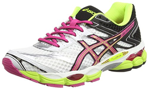 Asics Gel-Cumulus 16 (2A), Scarpe sportive, Donna, Bianco (White/Hot Pink/Black 120), 37