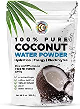 Earth Circle Organics Pure Young Dried Coconut Water Powder - Unsweetened Electrolyte Supplement for Hydration and Energy - No Additives, Natural Keto Water Enhancer, Vegan, Gluten Free - 8oz