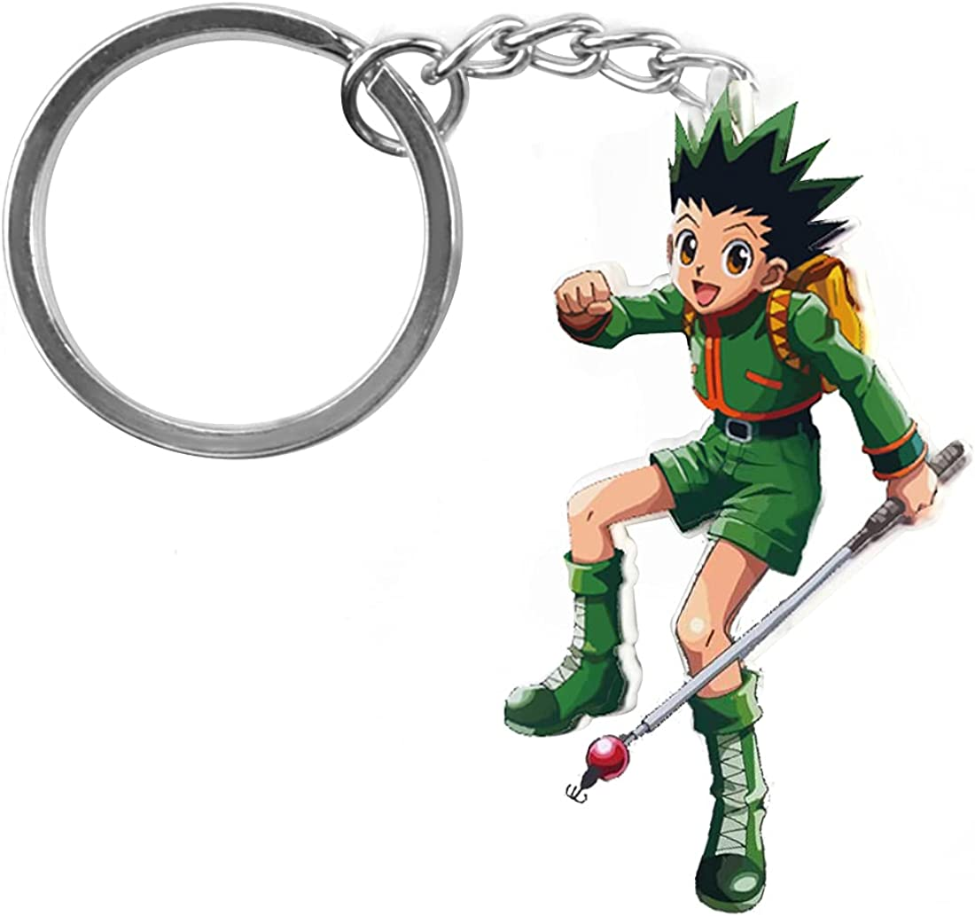 Hunt_er X Hun_ter Keychain Anime Merch Figure for keys Cute Kawai Plush HXH Anime Gifts for Adults Kids