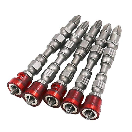 5pcs Single Head Magnetic Screwdriver Bit Anti-Slip Electric Screw Driver Set for Power Tools Extractor Accessories High Quality-Red