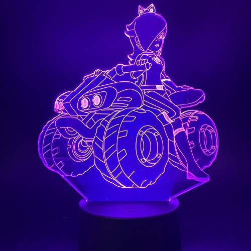 Schönheit Mädchen reiten ein Quad Fahrrad Büro Studie 3D LED Nachtlicht USB Tischlampe Kinder Geburtstag Geschenk Nachtbett Dekoration